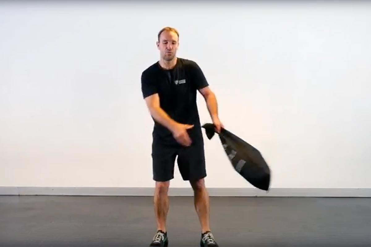 Sandbag Inner Sack Around the Body