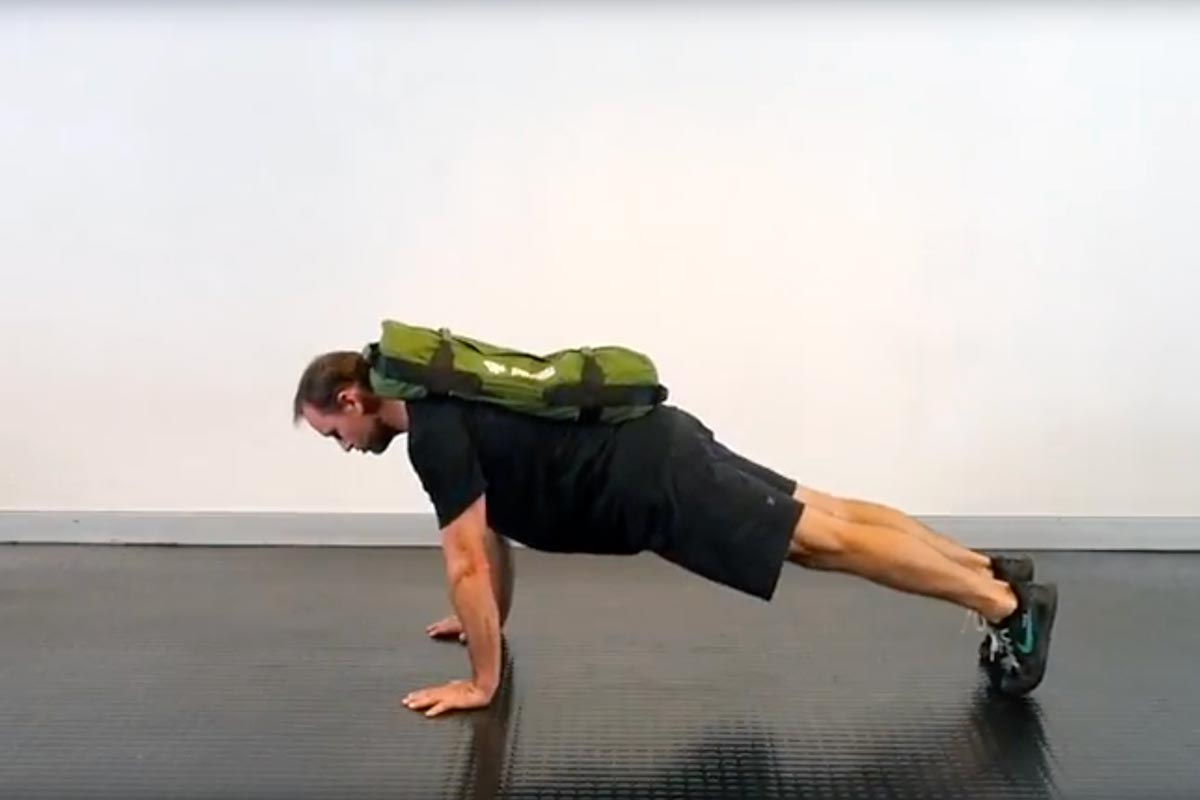 Sandbag Weighted Push-ups