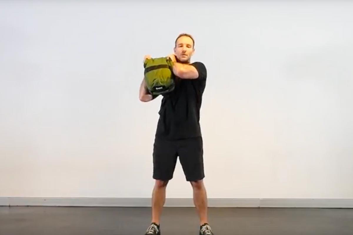 Shoulder to Shoulder Sandbag Press