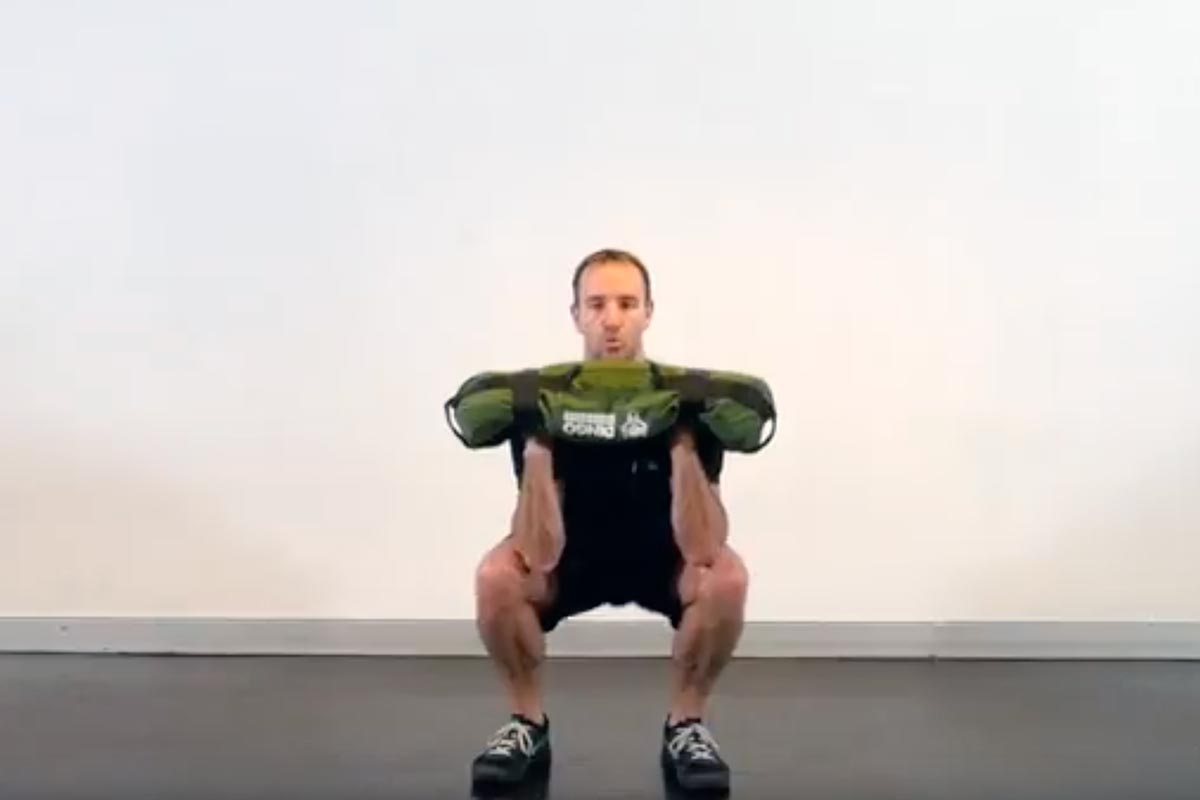 Sandbag Squat Press