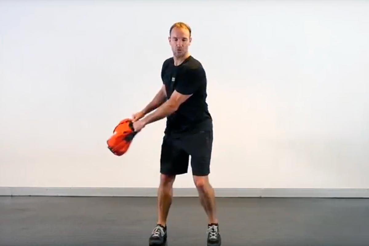 Sandbag Single Arm Press
